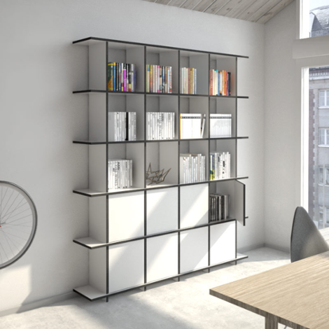 Designer bookcase made to measure Strada M Porta