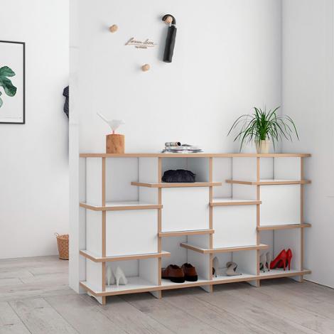 Designer-TV-Schuhregal nach Maß Vola