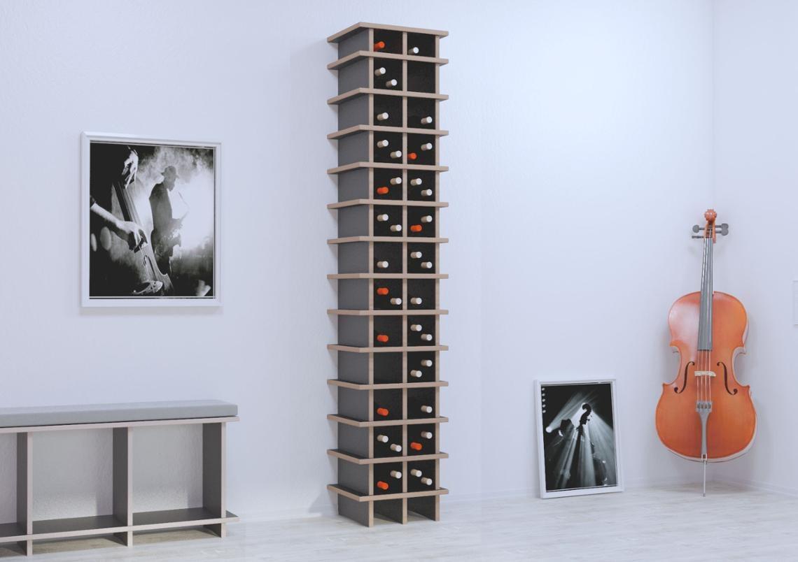 glendana designer weinregal nach ma. Black Bedroom Furniture Sets. Home Design Ideas