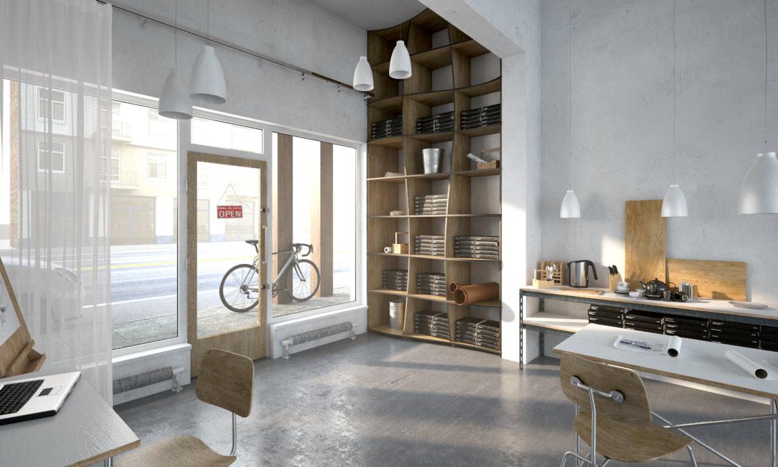Schickes Design Der Büroeinrichtung