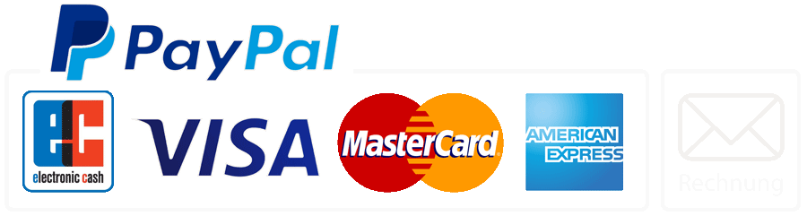 Pay via Paypal, credit cards or  per invoice